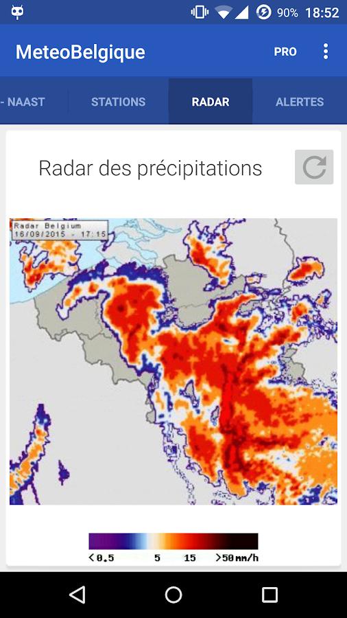 Météo en Belgique- screenshot