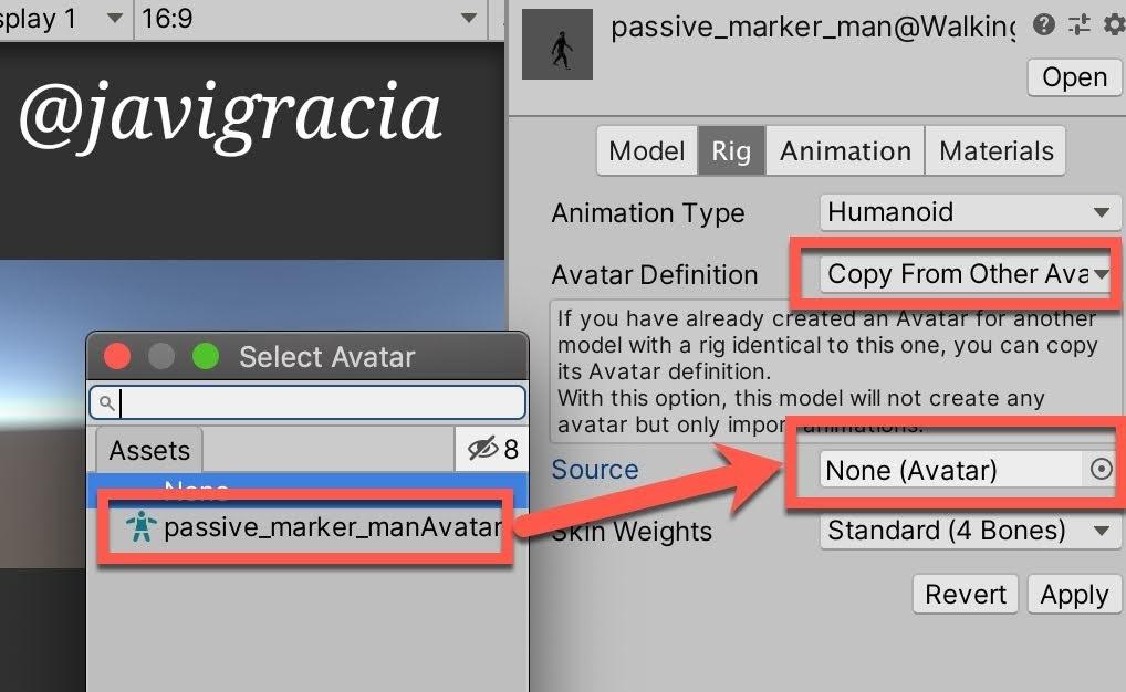 Animations Copy Avatar