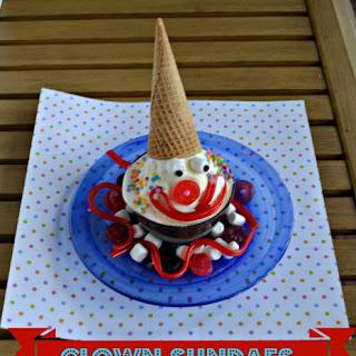 Clown Ice Cream Sundaes