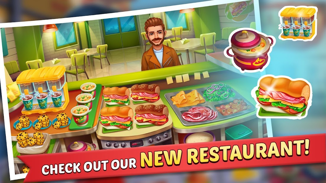 Kitchen Craze: Madness of Free Cooking Games City Android App Screenshot