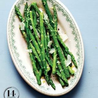 Weight Watchers Asparagus With Lemon And Pecorino
