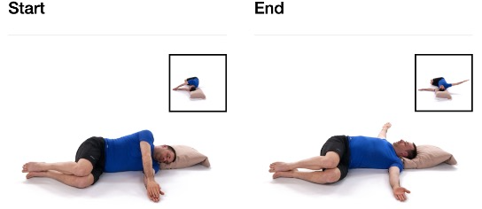 A person lying on a bed Description automatically generated