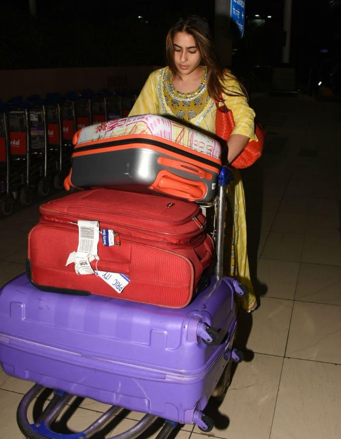 Image result for sara ali khan luggage