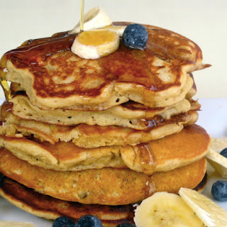 Whole-Grain Banana Blueberry Pancakes