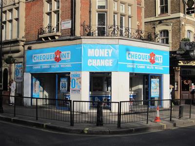 Chequepoint on queensway bureaux de change in paddington london