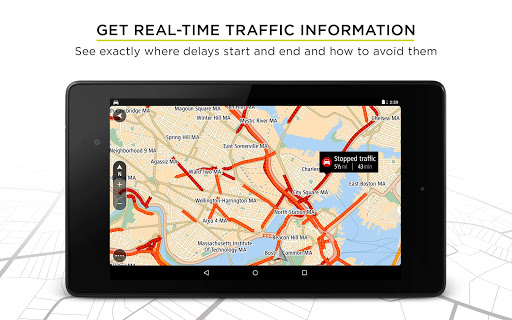 TomTom GPS Navigation Traffic Screenshot