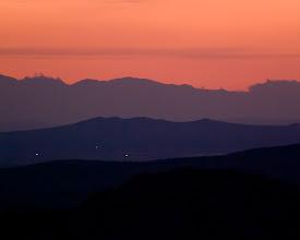 Photo: Sunset near Rainbow Basin National Natural Landmark