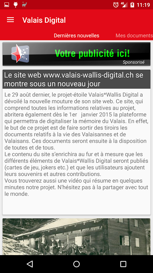 Valais-Wallis Digital- screenshot