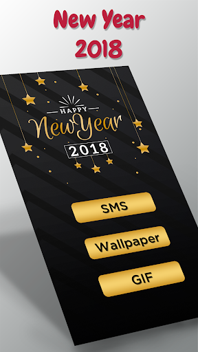 New Year 2019 : Video Status,GIF,SMS 1.0 screenshots 1