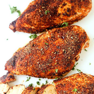 Baked Cajun Chicken Breasts.