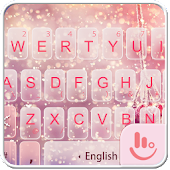 Pink Snow Keyboard Theme