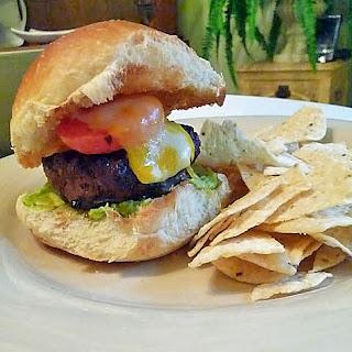 Guacamole Cilantro Lime Cheeseburger.