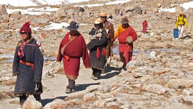 Photo: Tibetans doing the Kailash kora ...