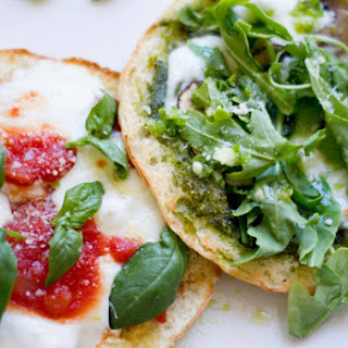 Pita Pizzas with Spicy Green Chili Oil.