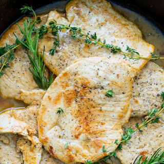 Rosemary and Thyme Turkey Breast Cutlets