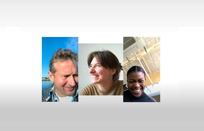 Photo collage of three people who are recipients of the Google.org Impact Challenge on Climate