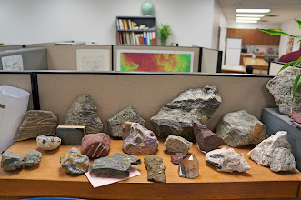 Photo: What would you expect to find in a geologist's cubicle?