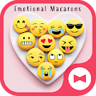 Funny Wallpaper Emotional Macarons Theme icon