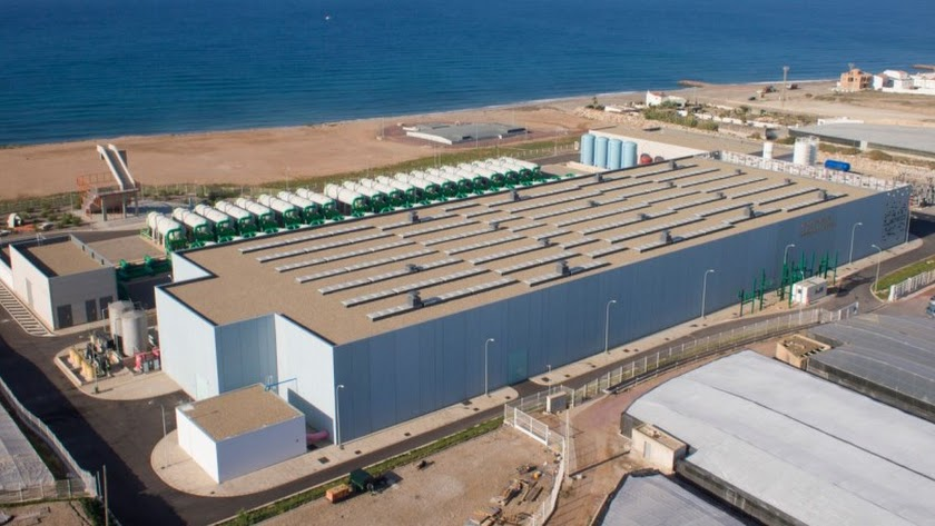 La desaladora  del Campo de Dalías comenzó a distribuir agua en 2015.