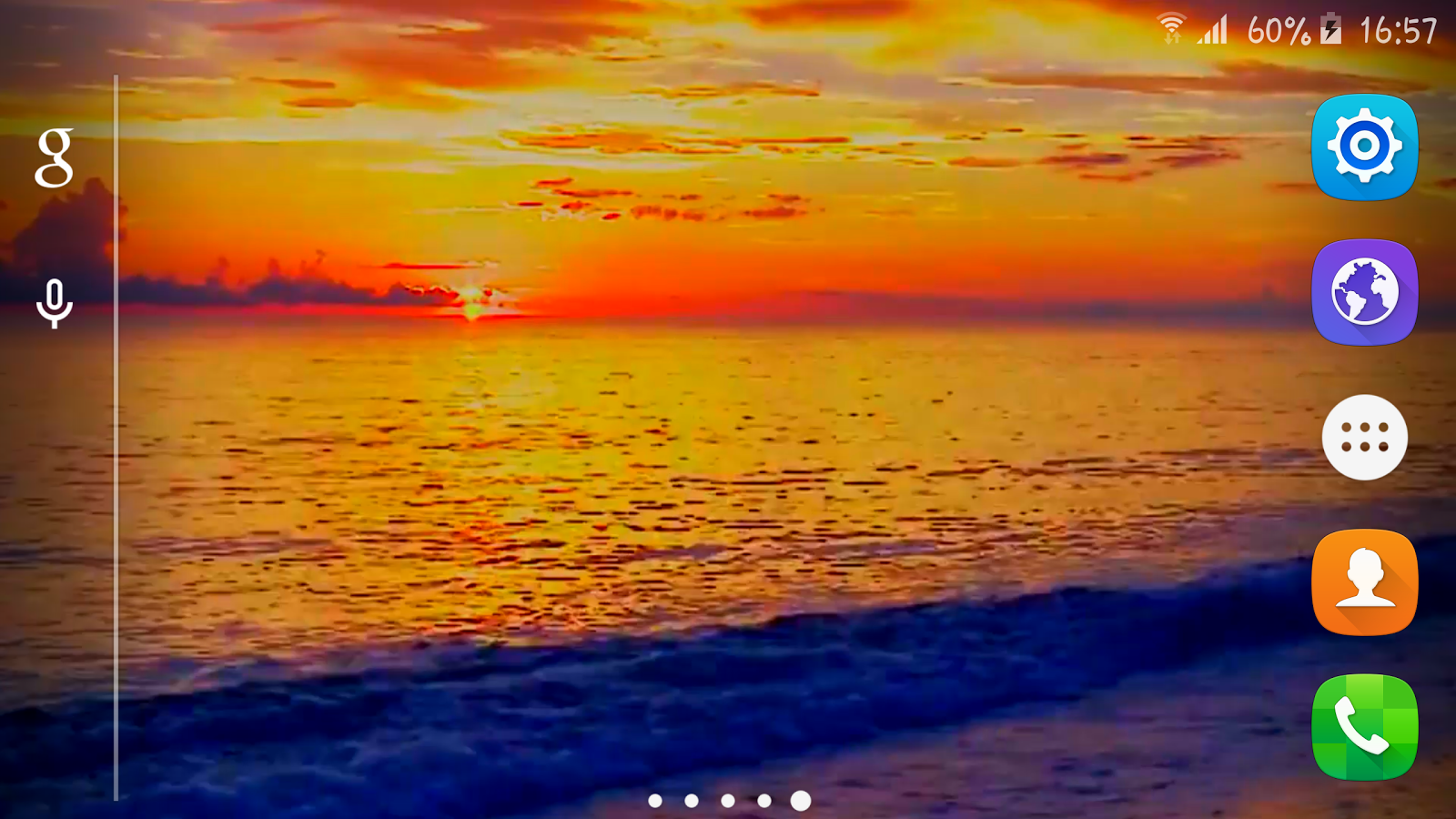Sunset Beach Live Wallpaper Screenshot