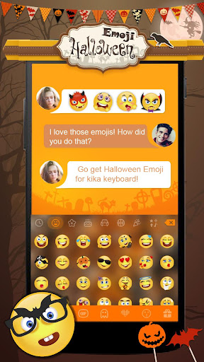 Halloween Emoji Kika Keyboard for PC
