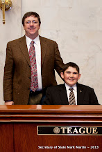 Photo: 3-27-13 Sen Teague with Brant Reeder