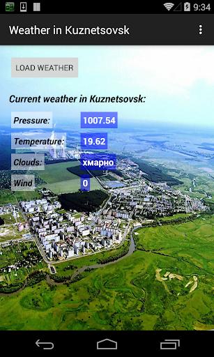 Weather in Kuznetsovsk