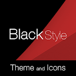 Black Red Premium Theme Icon