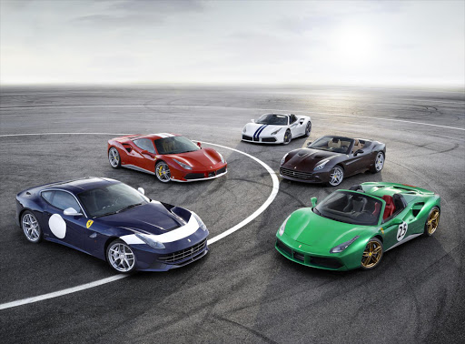 A selection of the special edition Ferraris coming in 2017 to celebrate the marque's 70th anniversary