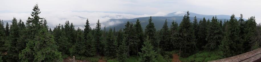 Photo: I panorama z wieży widokowej, widok w kierunku Śnieżnika.
