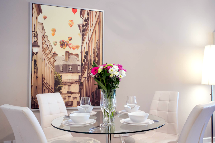 Dining space at IFSC Mayor Street apartment