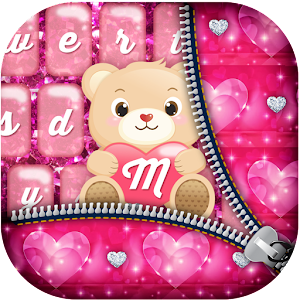 Pink Glitter Keyboard Themes for PC