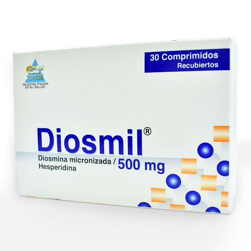 Diosmina Diosmil 500 mg x 30 Comprimidos