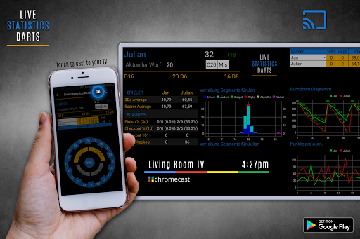 live statistics darts: scoreboard screenshot 1