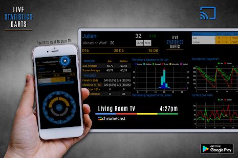 Live Statistics Darts: Scoreboard - náhled