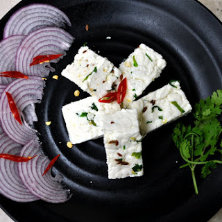 Homemade spiced Paneer