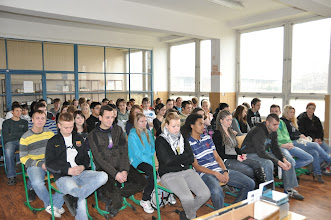 Photo: Vystoupení pana Kryla se zúčastnil 1. - 4. ročník.