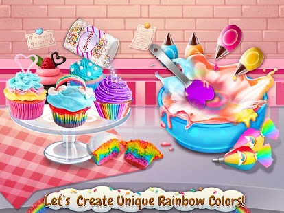 Rainbow Desserts Bakery Party - náhled