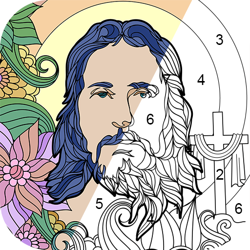 Bible Coloring - Color By Number, Free Bible Game Icon