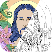 Bible Coloring - Color by Number, Free Bible Games