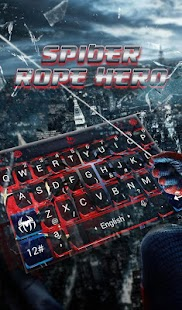 Spider Rope Hero Keyboard Theme - náhled