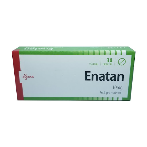 Enalapril Enatan 10mg x 30 Tabletas