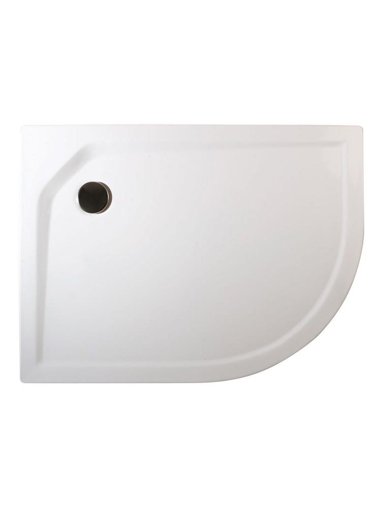acrylique extra plat receveur de douche acrylique asymetrique gauche 80 x 90 x 3 5 cm extra plat a encastrer