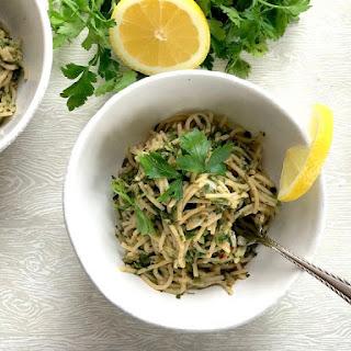 Spinach Spaghetti Aglio e Olio.