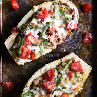 Julie's Stuffed Eggplant Boats.
