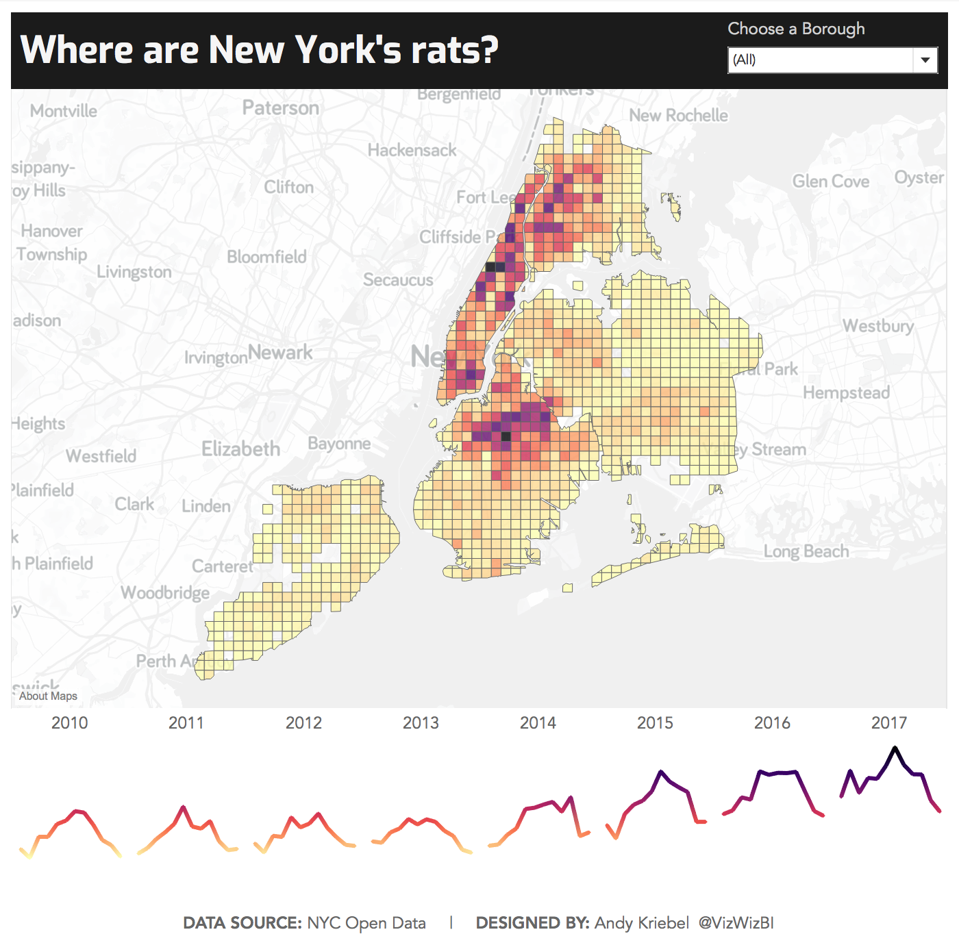 Makeover Monday: Where are New York's rats?