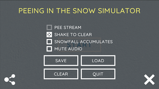 Screenshot for Peeing in the Snow Simulator in United States Play Store