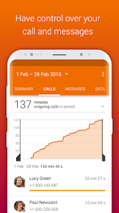 Callistics - Data usage, Calls Screenshot