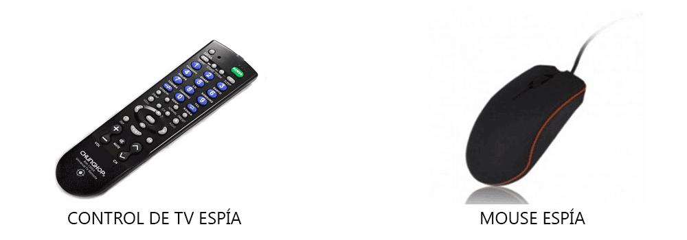 control de tv y mouse espía