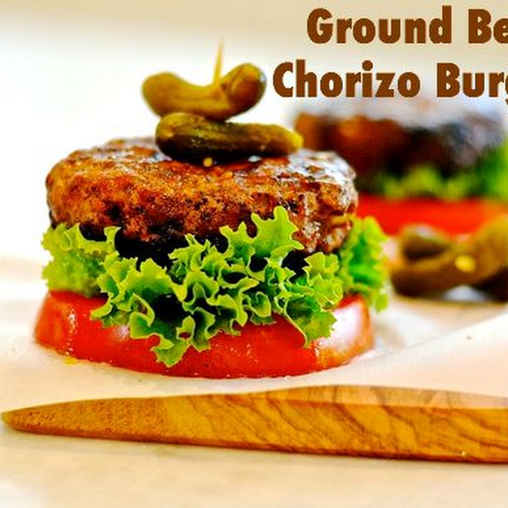 Ground Beef Chorizo Burgers Recipe